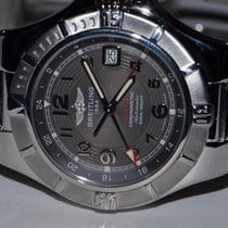 Breitling Colt GMT+ Steel 42mm Grey No numerals United States of America, New York, Greenvale