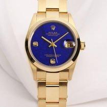 Rolex Midsize DateJust 68248 18K Yellow Gold Lapis Lazuli...