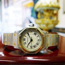 Cartier Santos Octagon Ladies Steel 18k Gold 25mm Date Quartz...