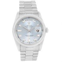 Rolex President Day-date Platinum Diamond Dial Watch 118206
