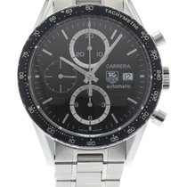 TAG Heuer Carrera CV2010 Watch with Stainless Steel Bracelet...