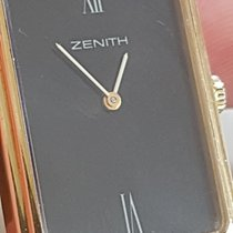 Zenith ULTRA RARE VINTAGE ZENITH GOLD 18 KT RECTANGULAR DIAL BLACK Very good Yellow gold Manual winding