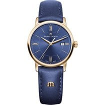 Maurice Lacroix Gold/Stahl 30mm Quarz EL1094-PVP01-411-1 MAURICE LACROIX ELIROS DATE oro pelle blu neu