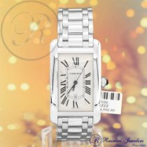 Cartier Tank Américaine pre-owned 27mm Date White gold
