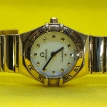 Omega Constellation Quartz pre-owned 22mm Yellow gold