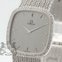 Omega Oro blanco Cuarzo Plata Sin cifras 30.5mm usados De Ville Prestige
