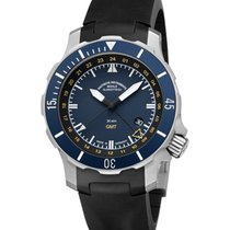 Mühle Glashütte Seebataillon GMT Titanium 45mm Blue No numerals
