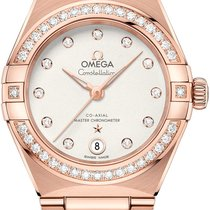 Omega Rose gold Automatic Silver 29mm new Constellation