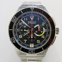 Zenith El Primero Stratos Flyback Steel 45mm Black Arabic numerals United States of America, Texas, Houston