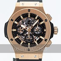 Hublot Rose gold Automatic Black 44mm pre-owned Big Bang Aero Bang