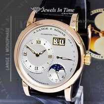 A. Lange & Söhne Rose gold Manual winding Silver 38mm pre-owned Lange 1