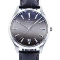 Zenith Captain Central Second pre-owned 40mm Grey Date Leather