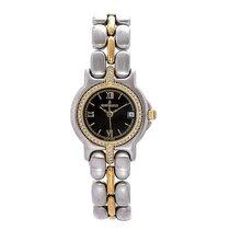베르톨 루치 금/스틸 25mm 쿼츠 11155 중고시계