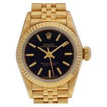 Rolex 67198 Gelbgold 1990 Oyster Perpetual 24mm gebraucht