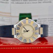 Cartier 21 Must de Cartier Gold/Steel 31mm Champagne No numerals