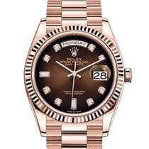 Rolex Day-Date 36 neu Automatik Uhr mit Original-Box und Original-Papieren 128235