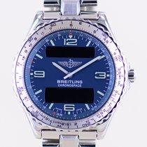 Breitling Chronospace Acero 41.5mm Azul Árabes