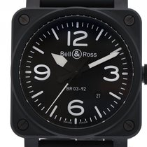 벨앤로스 (Bell & Ross) Aviation BR 03-92 Black Matte Keramik...