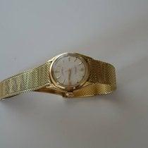 Rolex Bubble Back Žluté zlato 35mm Bílá Bez čísel