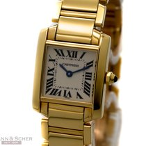 Cartier Tank Francaise Lady Ref-W50002N2 18k Yellow Gold Box...