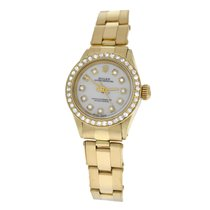 Rolex Ladies  Oyster Perpetual 6618 Diamond 14K Yellow Gold