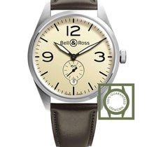 Bell & Ross Vintage Automatic Beige Dial Brown Leather