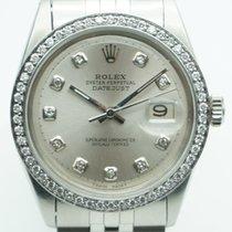 Rolex Datejust 36mm Stainless Steel Silver Diamond Dial & Bezel