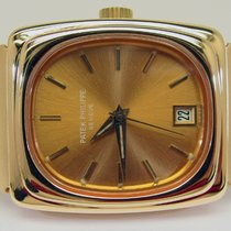 Patek Philippe Beta 21 Żółte złoto 38mm Brązowy Bez cyfr