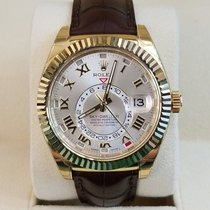 Rolex Yellow gold Automatic Roman numerals 42mm new Sky-Dweller