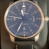 Fortis pre-owned Automatic 41mm Black Sapphire Glass 10 ATM