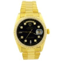 Rolex Day-Date 36 Yellow gold 36mm Black No numerals United States of America, California, Fullerton