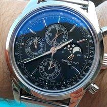 Breitling Transocean Chronograph 1461 Сталь 43mm Чёрный Без цифр
