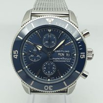 Breitling Superocean Héritage II Chronographe Steel 44mm Blue No numerals
