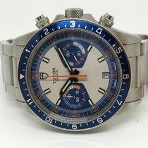 Tudor Heritage Chrono Blue 70330B new