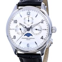 Frederique Constant Runabout Moonphase Steel 46mm Silver No numerals