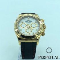Rolex Daytona Sarı altın 40mm Beyaz Arapça