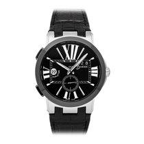 Ulysse Nardin Executive Dual Time Steel 43mm Black Arabic numerals