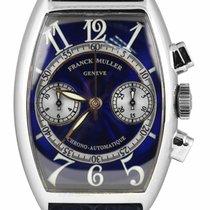 Franck Muller Casablanca pre-owned 32mm Blue Chronograph Leather