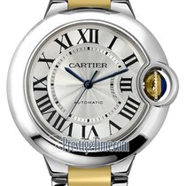 Cartier Ballon Bleu 33mm Gold/Steel 33mm Silver