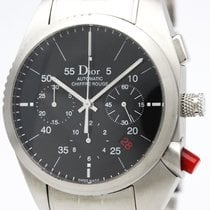 Dior Polished  Chiffre Rouge Steel Automatic Watch Cd084610...