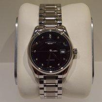 Longines Master Collection L2.257.4.57.6 Longines MASTER Acciaio Nero Diamanti 29mm nouveau