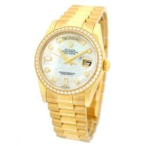Rolex 18K Yellow Gold Day Date President Factory Diamond Dial...