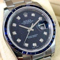 Rolex Datejust Deep Blue Night Stone Stars Dial + Baguette Bezel