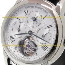 Frederique Constant Steel Automatic Silver Roman numerals 42mm new Manufacture Tourbillon