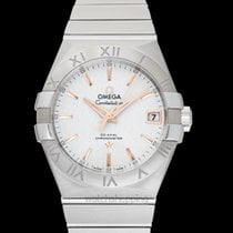 Omega Constellation Co-Axial Silver Steel 38mm - 123.10.38.21....