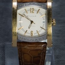 Bulgari Assioma pre-owned 34mm White Date Leather
