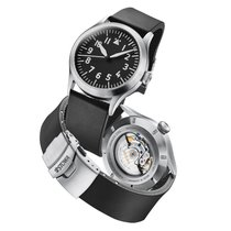 Stowa new Automatic Display Back Center Seconds Luminescent Numerals Luminescent Hands Only Original Parts 43mm Steel Sapphire Glass