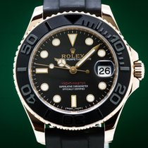 Rolex Yacht-Master 37 Rose gold 31224mm Black Arabic numerals