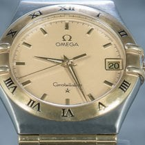 Omega Constellation Gold/Steel 33mm Champagne No numerals