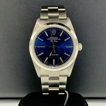 Rolex Air King Precision Steel 34mm Blue Roman numerals United States of America, New York, New York